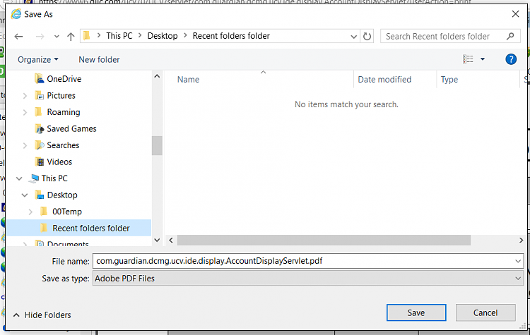 how to find recent folder in windows 8
