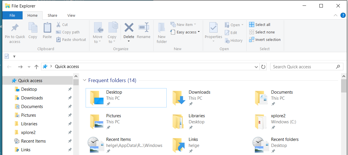 how to create folders in outlook windows 10