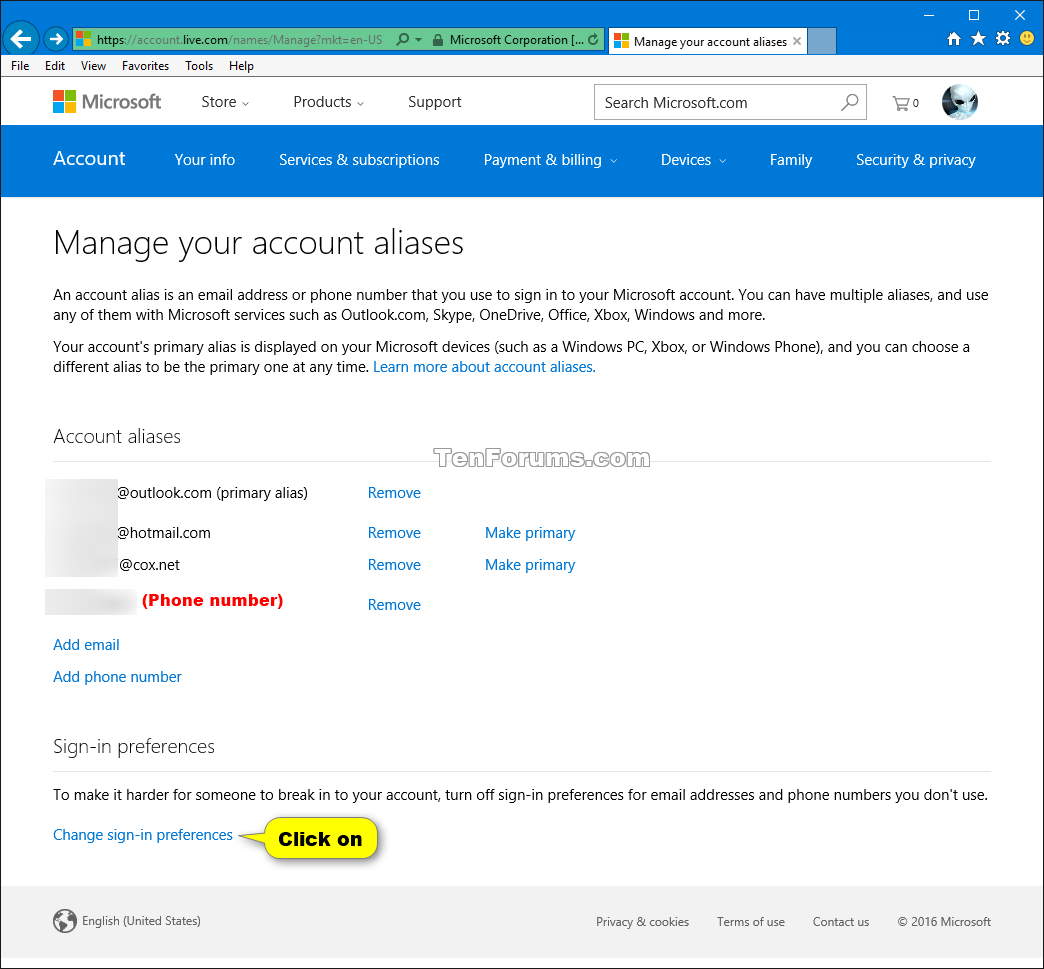 click image for larger version name microsoft_account_aliases_sign in_preferences 1png views