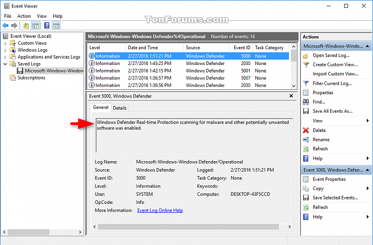 Click image for larger version.  Name:Windows_Defender_Offline_event_logs.png Views:1293 Size:66.1 KB ID:66718