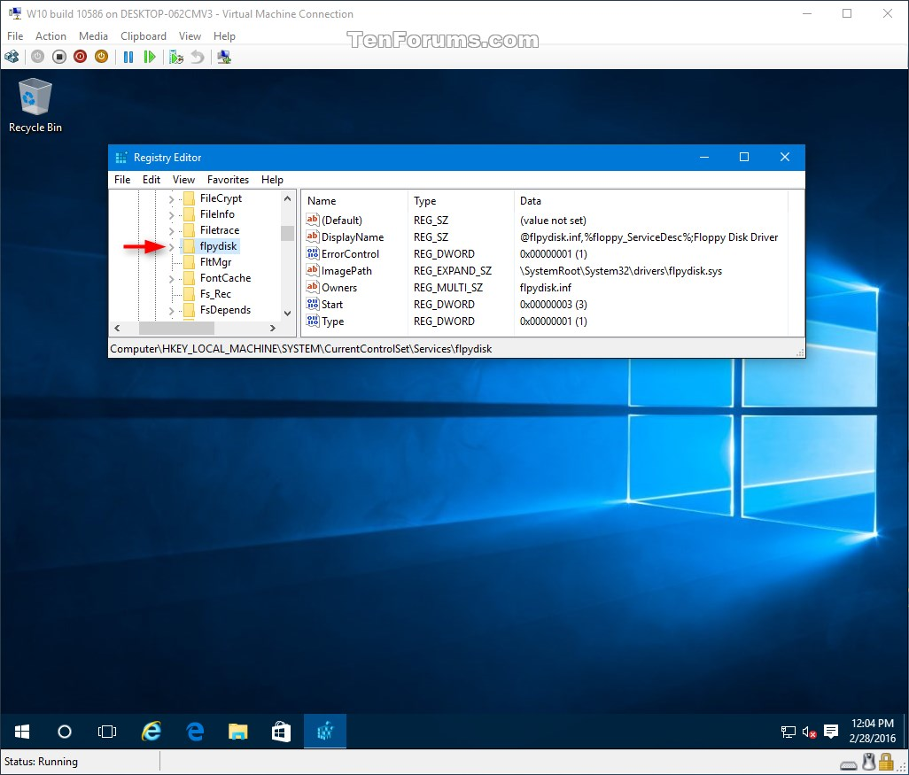 how to delete a virtual drive in windows 10