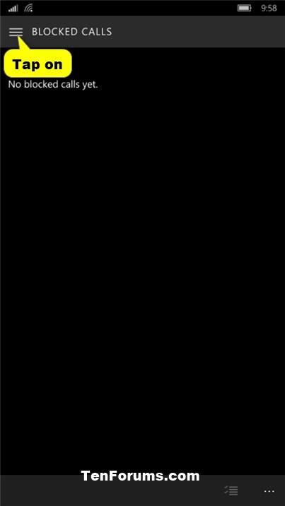Phone Number - Block or Unblock on Windows 10 Mobile Phone-phone_blocked_calls-3.jpg