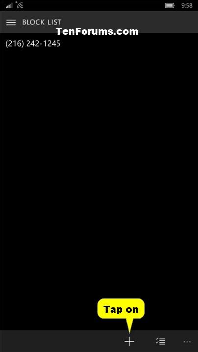 Phone Number - Block or Unblock on Windows 10 Mobile Phone-phone_blocked_calls-5.jpg
