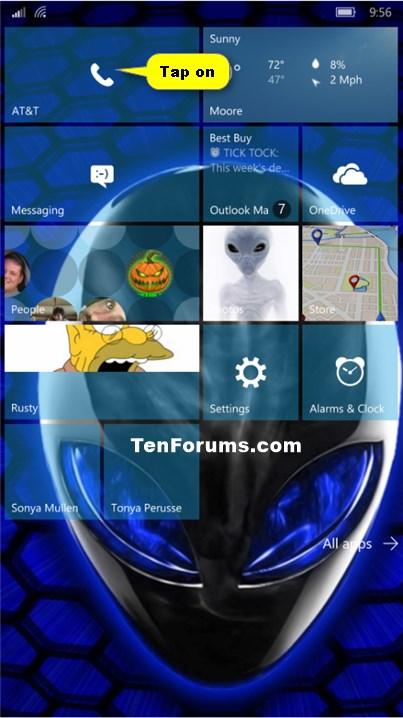 Phone Number - Block or Unblock on Windows 10 Mobile Phone-phone_app.jpg