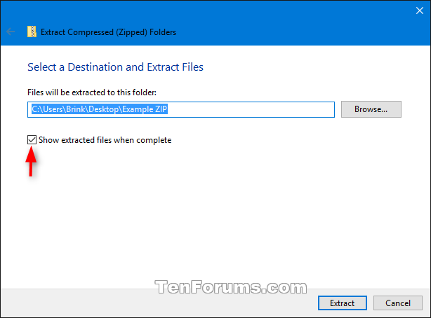 Unzip Files from Zipped Folder in Windows 10 | Tutorials