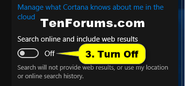 how to turn off windows search