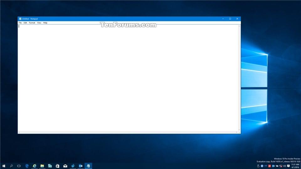 windows 10 notepad opens on startup