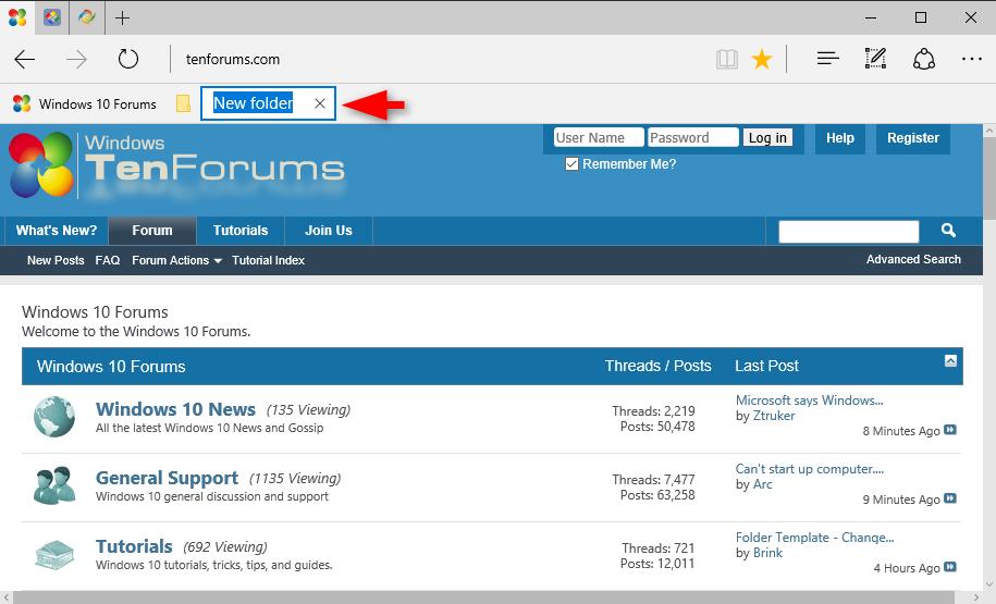 Create or Delete Folder on Microsoft Edge Favorites Bar ...