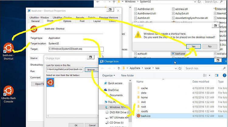 Create Bash on Ubuntu on Windows 10 shortcut-bash-console-shortcut.jpg