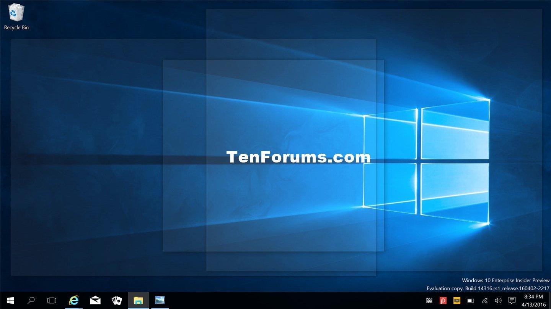 Turn On or Off Peek at Desktop in Windows 10 | Tutorials