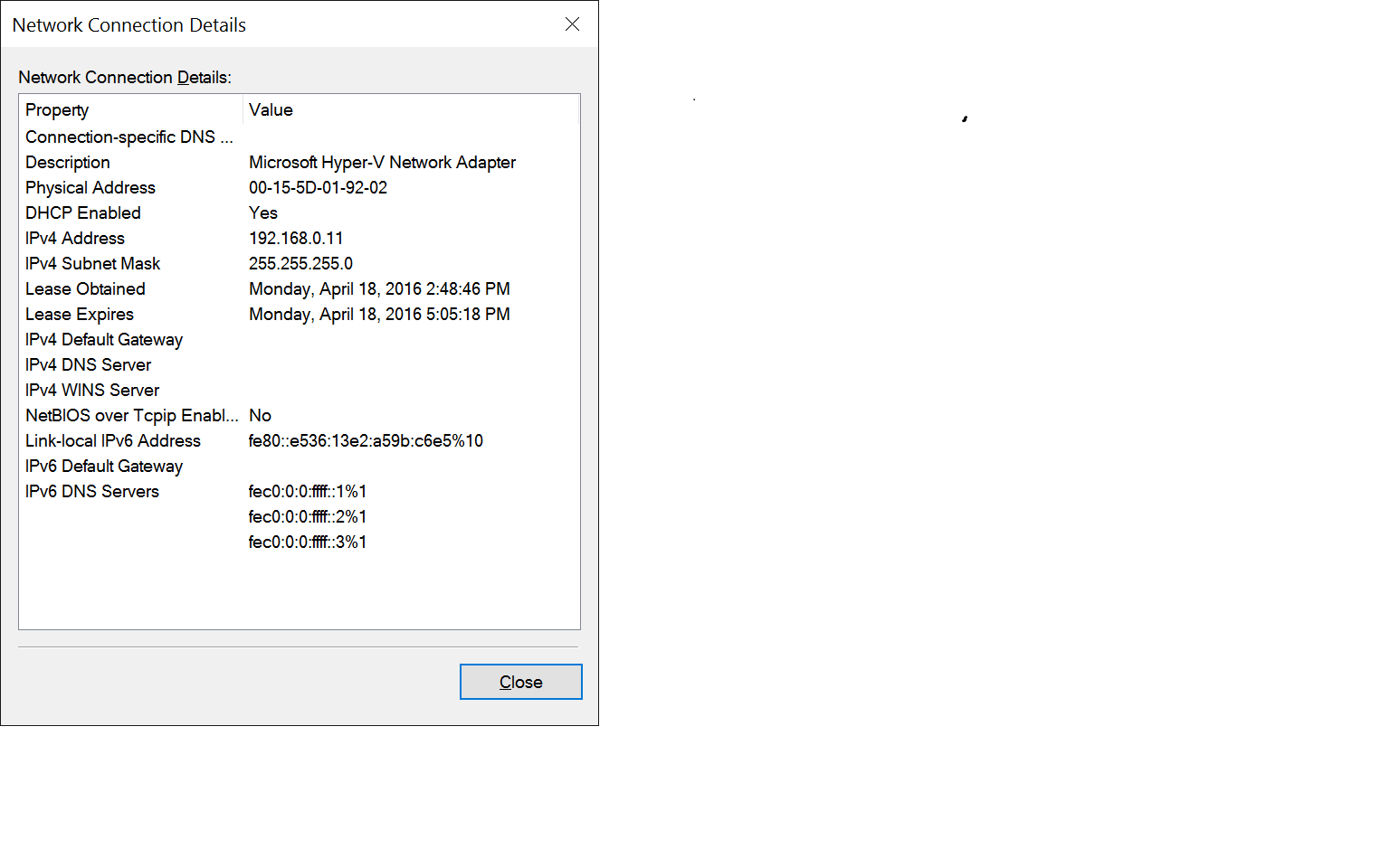 Click image for larger version.  Name:VM (client) Adapter Details.png Views:279 Size:33.3 KB ID:75496