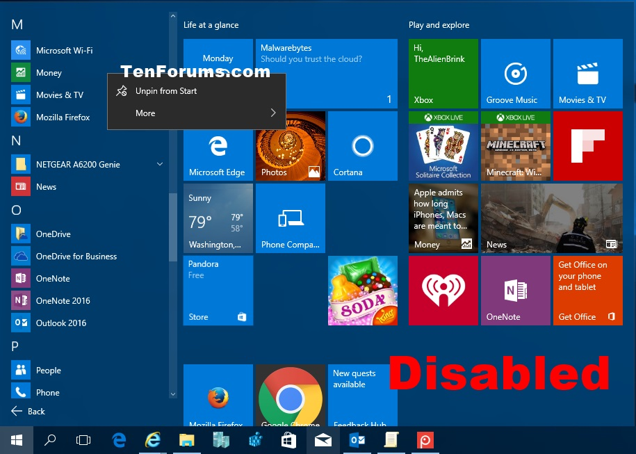 Enable or Disable Uninstall Apps from Start in Windows 8 and