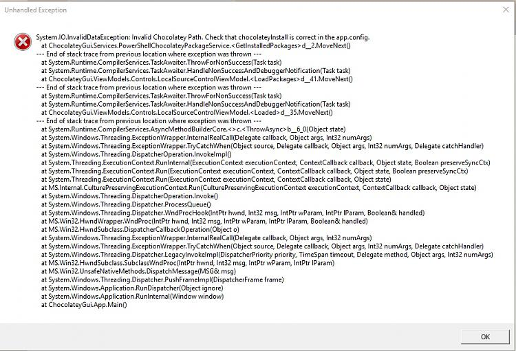 Click image for larger version.  Name:ChocolateyGUI error.jpg Views:104 Size:497.9 KB ID:76673