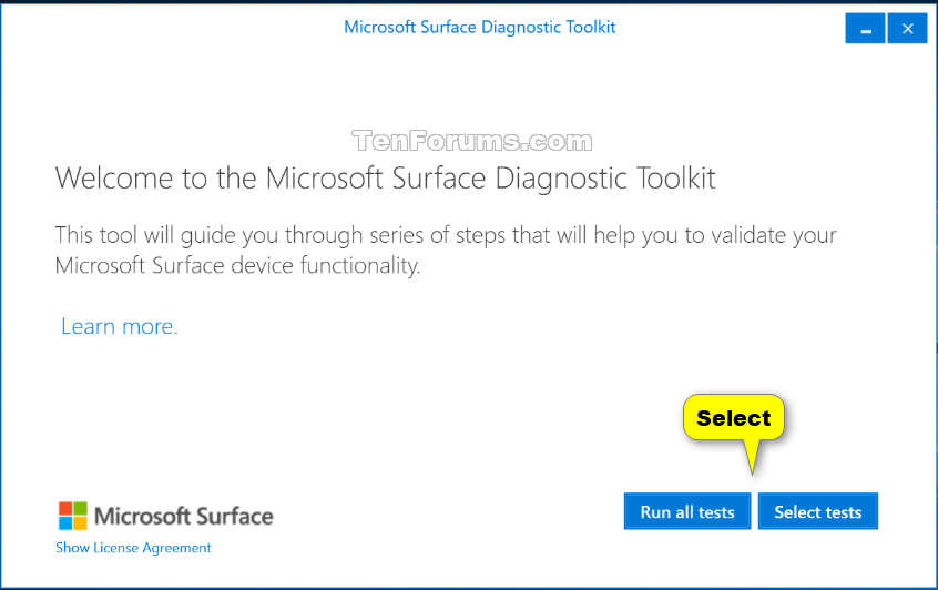 Use Microsoft Surface Diagnostic Toolkit in Windows 10 | Tutorials