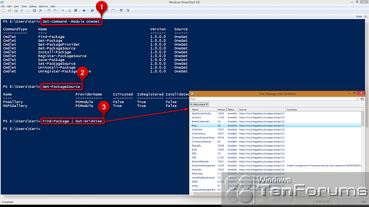 PowerShell PackageManagement (OneGet) - Install Apps from Command Line-2014-10-31_01h03_00.png