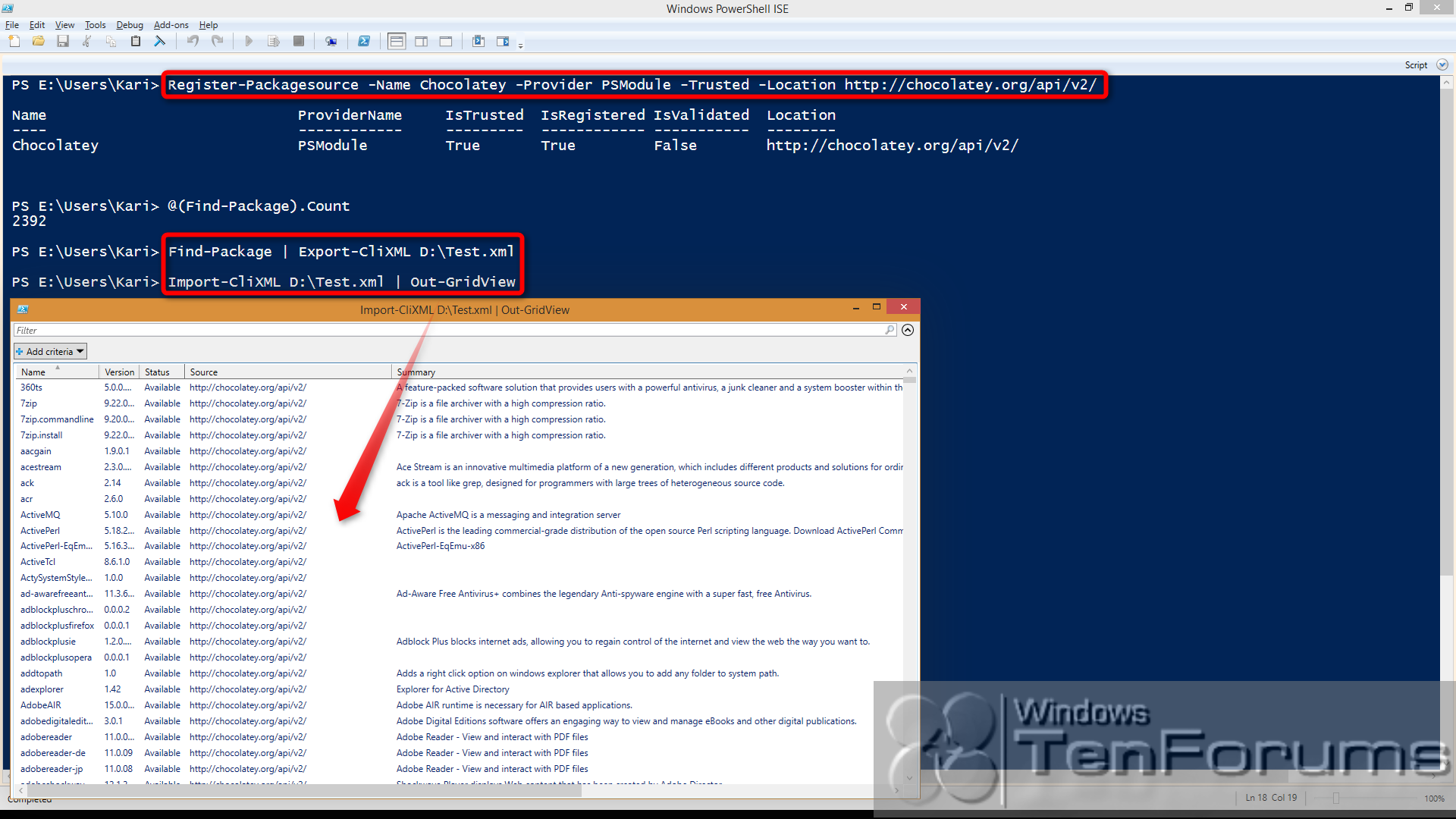 PowerShell PackageManagement (OneGet) - Install Apps from