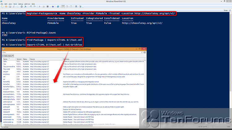 PowerShell PackageManagement (OneGet) - Install Apps from Command Line-2014-10-31_05h32_01.png