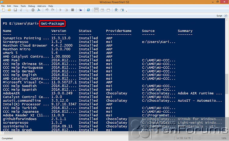PowerShell PackageManagement (OneGet) - Install Apps from Command Line-2014-10-31_02h43_47.png