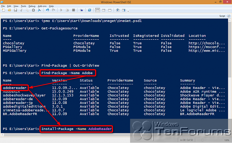 PowerShell PackageManagement (OneGet) - Install Apps from Command Line-2014-10-31_02h26_17.png