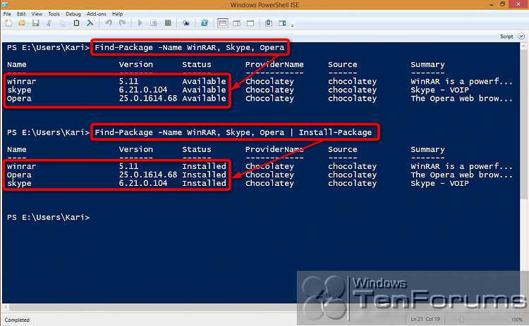 PowerShell PackageManagement (OneGet) - Install Apps from Command Line-2014-10-31_03h26_01.png