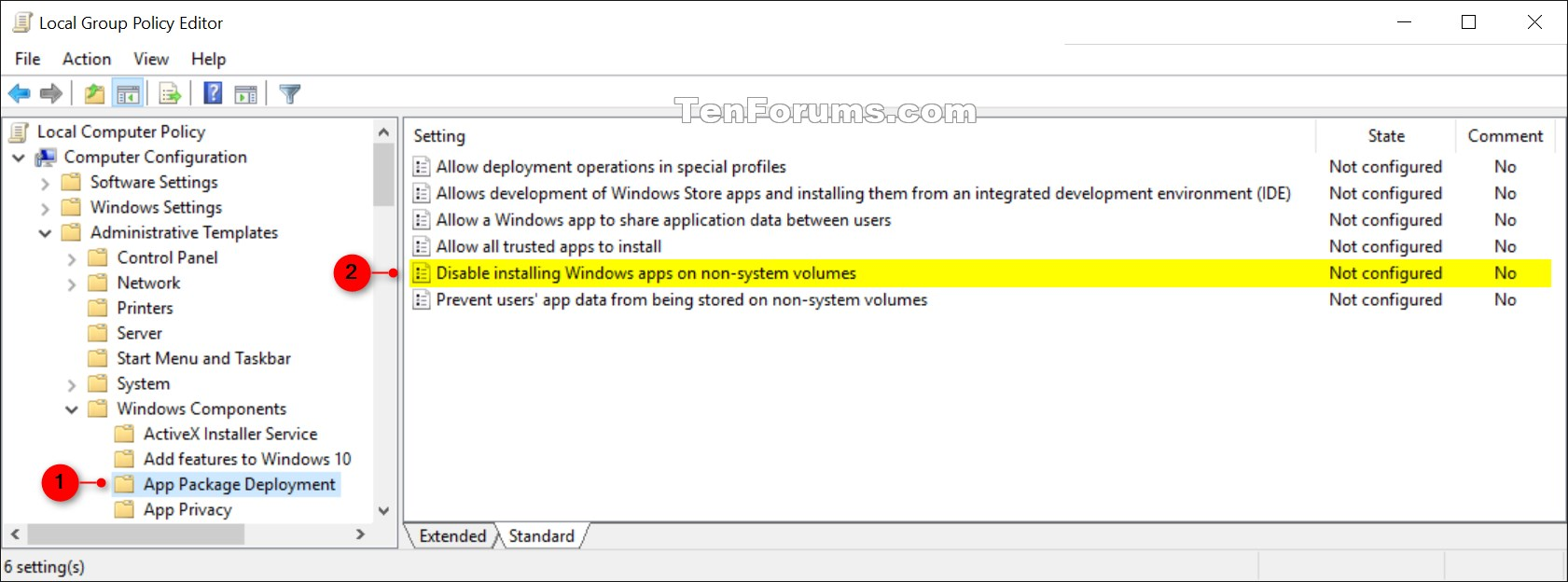 Enable or Disable Changing Save Location of Apps in Windows