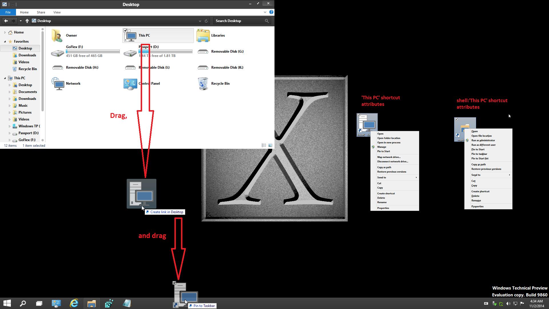 This Pc Shortcut Create In Windows 10 Windows 10