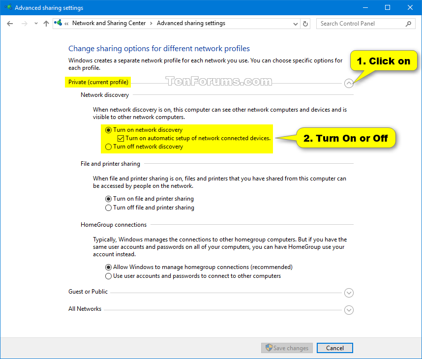Turn On or Off Network Discovery in Windows 10 | Tutorials