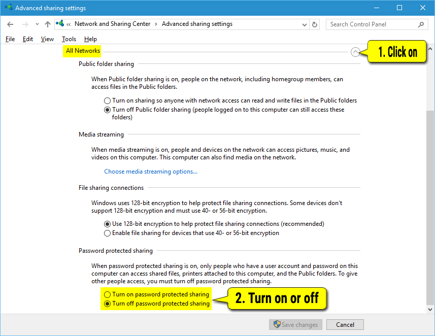 Turn On or Off File and Printer Sharing in Windows 10 - Windows 10 ...