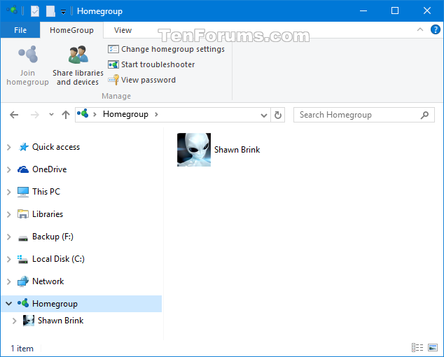 how to create a new homegroup when one already exists windows 10