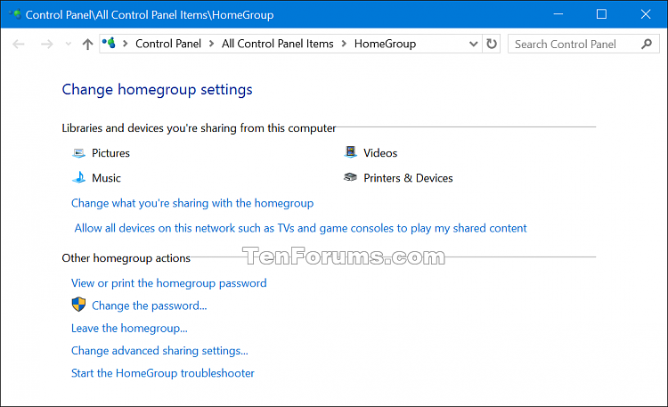 where is homegroup in windows 10 pro