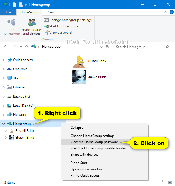 View or Print Homegroup Password in Windows 10-homegroup_password_navigation_pane.png
