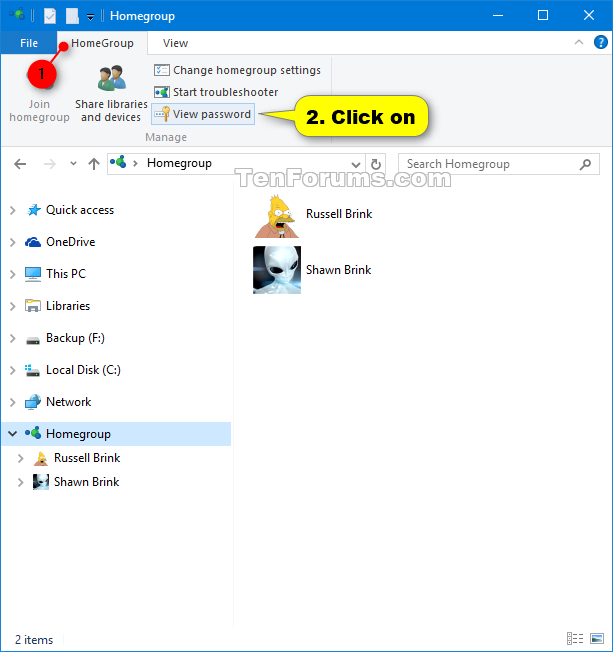 View or Print Homegroup Password in Windows 10-homegroup_password_ribbon.png
