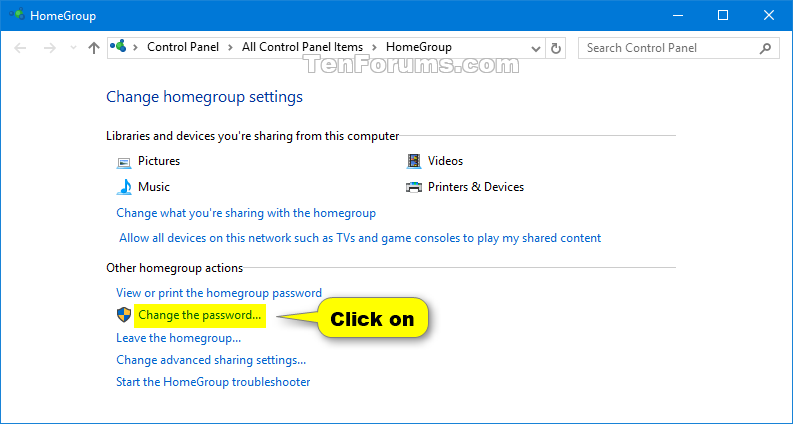 how to find windows 10 homegroup password
