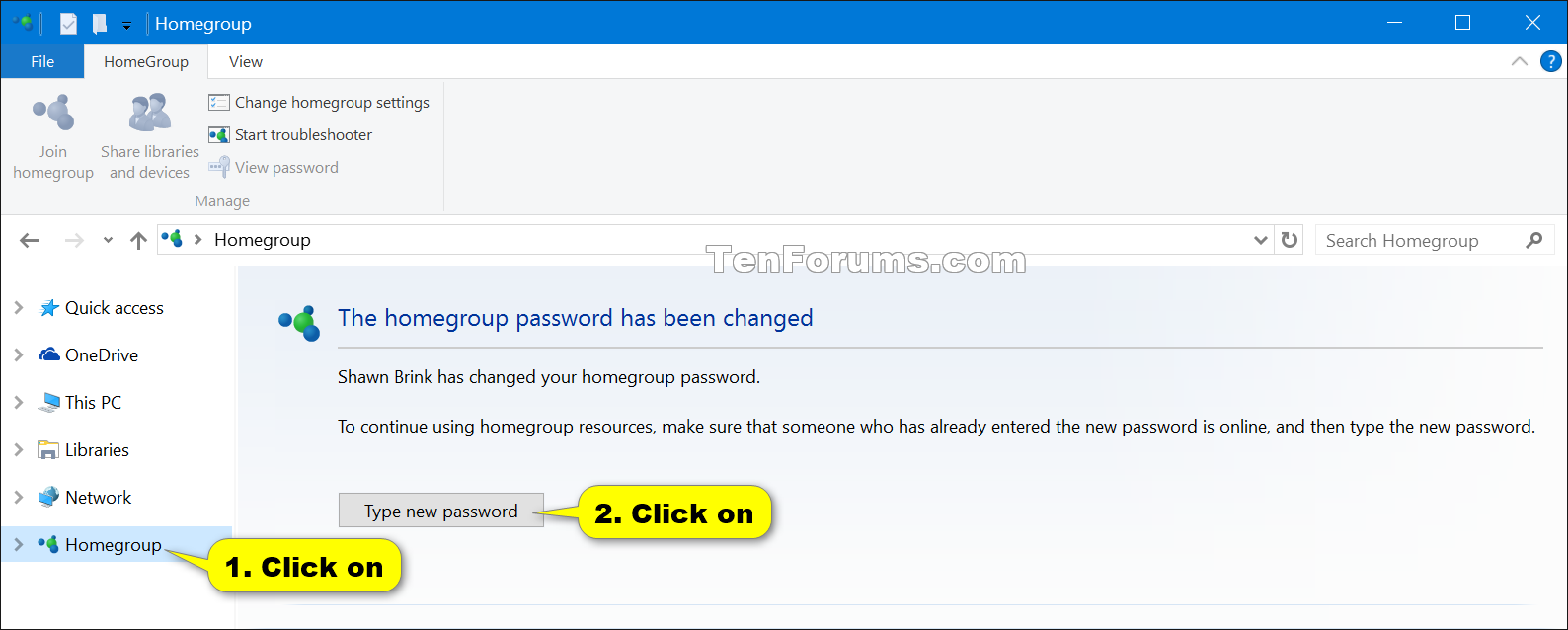 find my homegroup password windows 7
