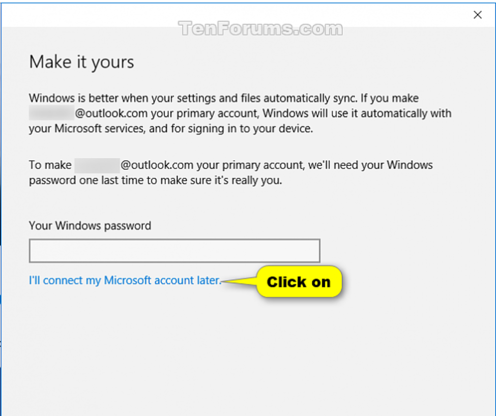 how to change account on windows 10 store