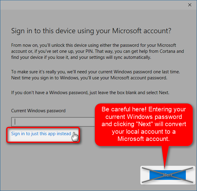 how to set windows 10 sign in local