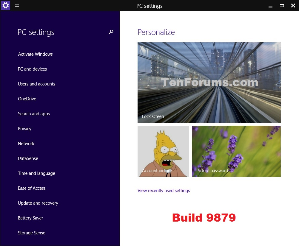 Open PC settings in Windows 10 - Windows 10 General Tips Tutorials