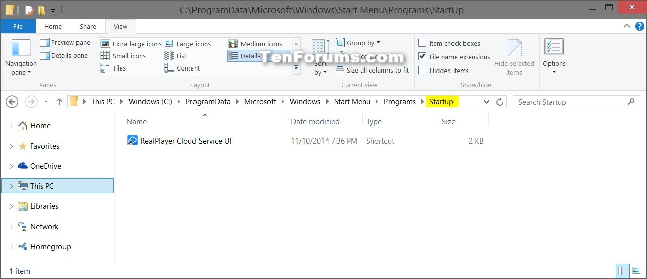 how to check startup programs windows 8.1