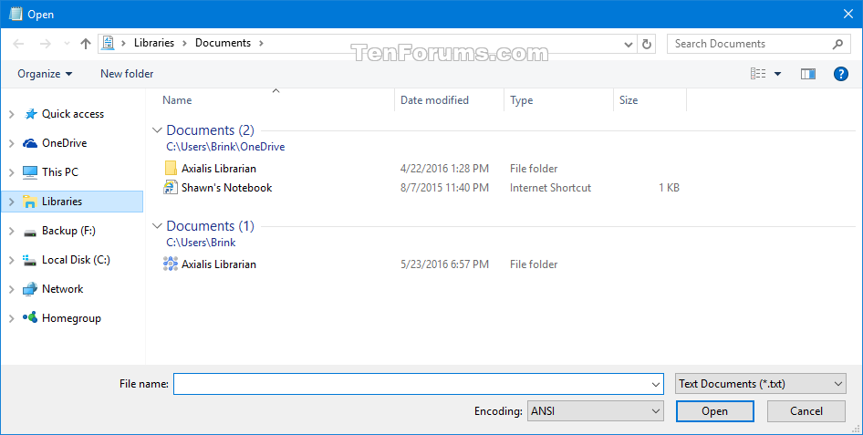 04d23d260b9d Reset Open and Save As Common Item Dialog Boxes in Windows