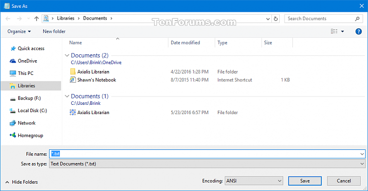 Reset Open and Save As Common Item Dialog Boxes in Windows-save_as_cid.png