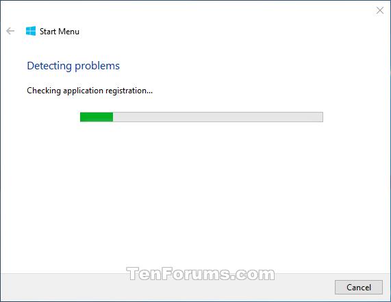 Start Menu Troubleshooter in Windows 10 | Tutorials
