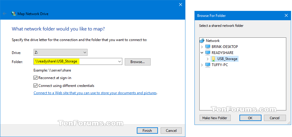 map network drive in windows 10