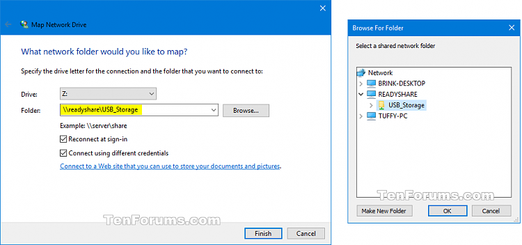 mapping network drive windows 10