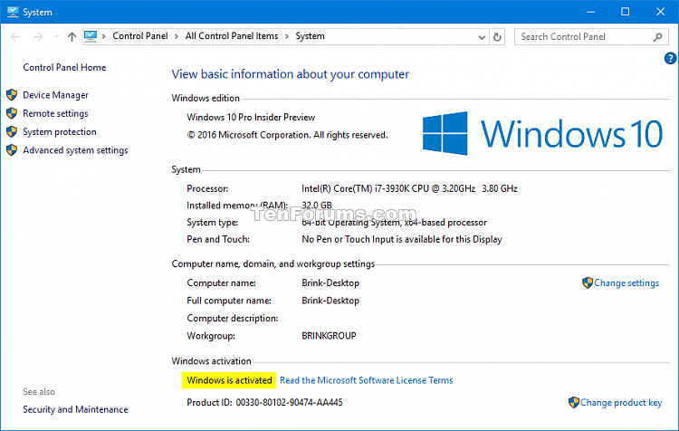 Check Activation of Windows 10-system_activated.png