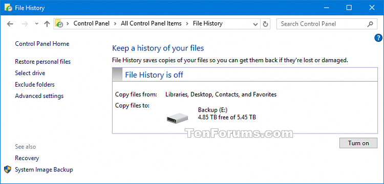 Click image for larger version.  Name:File_History_Control_Panel.png Views:360 Size:20.5 KB ID:87760