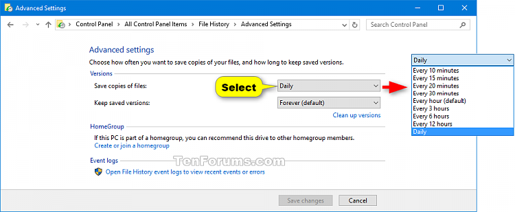 Change how Often to Save File History in Windows 10-file_history_schedule_control_panel-1.png