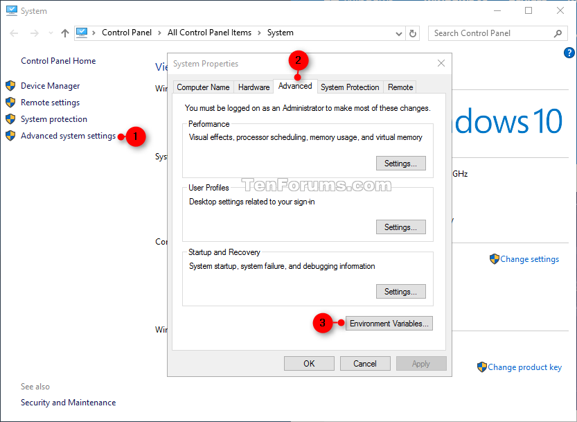 Environment Variables in Windows 10 | Tutorials
