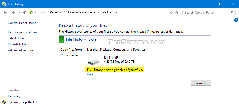 how to create an image backup in windows 10 and restore it if need