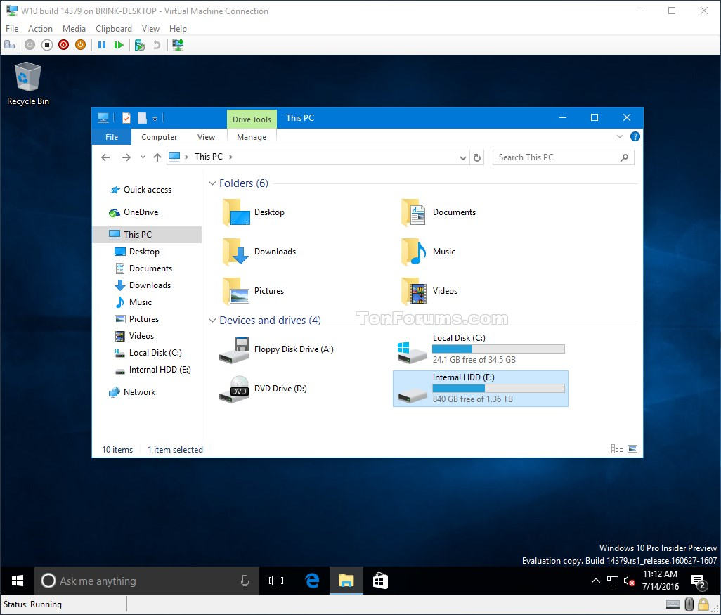 Add or Remove Physical Hard Disk for Hyper-V Virtual Machine