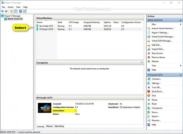 See if Hyper-V Virtual Machine is Generation 1 or Generation 2-hyper-v_manager-1.png